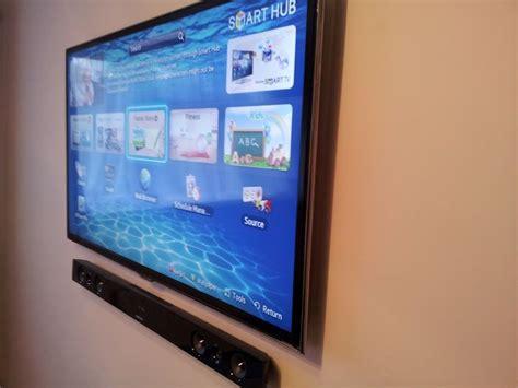 samsung tv  sound bar mounted  thisno