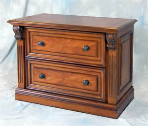 Lateral Wood File Cabinet With Lock Chesnut Wood Locking Lateral Office File Cabinet Ebay