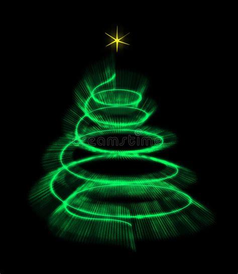 albero illuminato albero di natale illuminato isolato con una stella