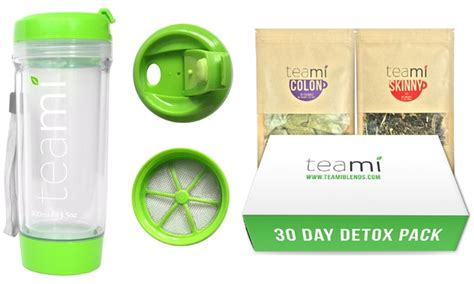 Teami Detox 30 Day by Teami 30 Day Detox Pack And Tumbler Groupon