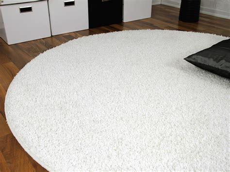 hochflor teppich rund teppich hochflor shaggy premio weiss rund teppiche
