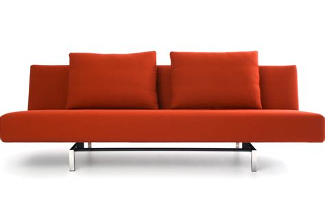 Sleeper Sofa With 2 Cushions Hivemodern Com Modern Sofa Chair