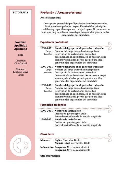 Modelo De Curriculum Vitae Para Ventas curr 237 culum vitae modelo 3 tienda de curriculum vitae