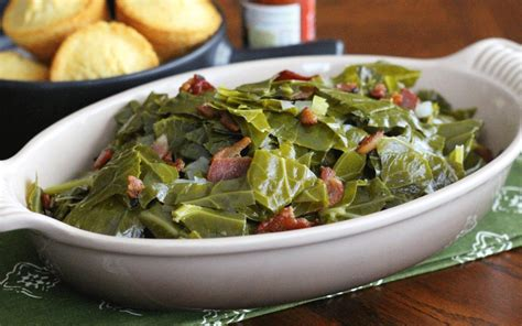 southern comfort food southern comfort food cajun collard greens with bacon
