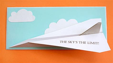 printable paper airplane card 12 fun diy s to celebrate graduation