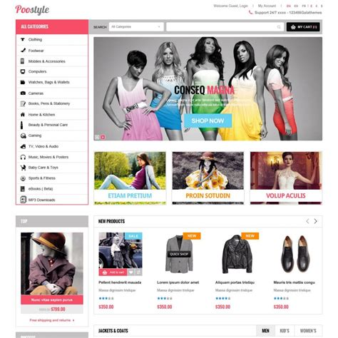 new fashion responsive prestashop theme et poostyle