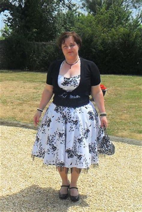 Robe Retro Femme Ronde - robe rockabilly vintage hr quot white black flowers