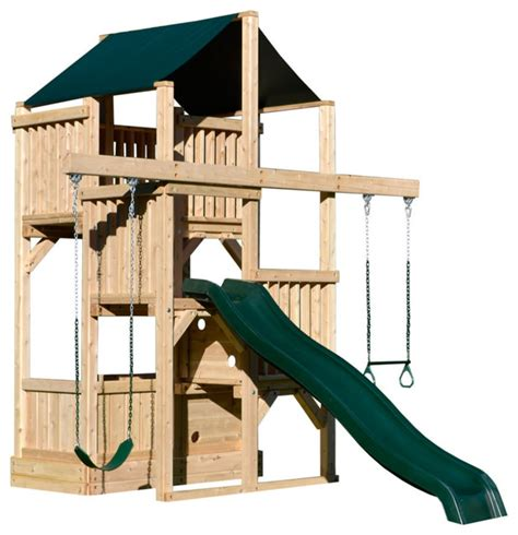 compact backyard playset triumph play systems quad space saver traditional kids playsets and swing sets