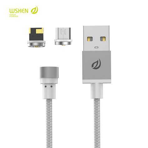 Wsken For Iphone wsken x cable micro usb metal magnetic charging
