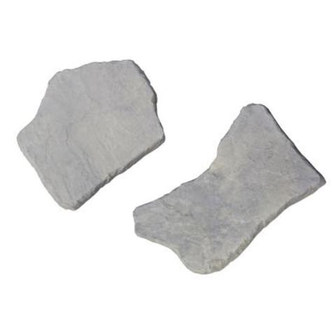 Decorative Stepping Stones Home Depot by Nantucket Pavers 20 In And 21 In Irregular Concrete Blue