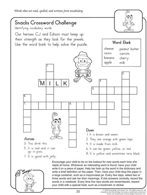 easy printable crossword puzzle maker picture crossword puzzle for kids
