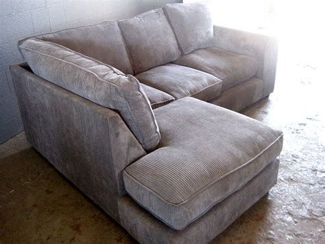 seater corduroy couch  shaped  grey artappelartappel
