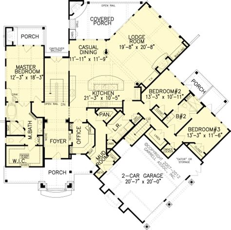the grist mill bungalow house plans floor plan