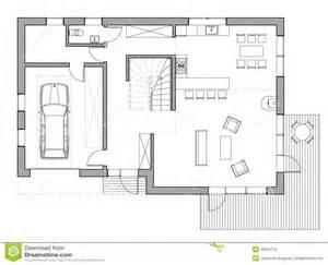 Single Family Homes Floor Plans Drawing Single Family House Stock Illustration Image