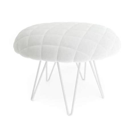 white soft stool 3d model cgtrader