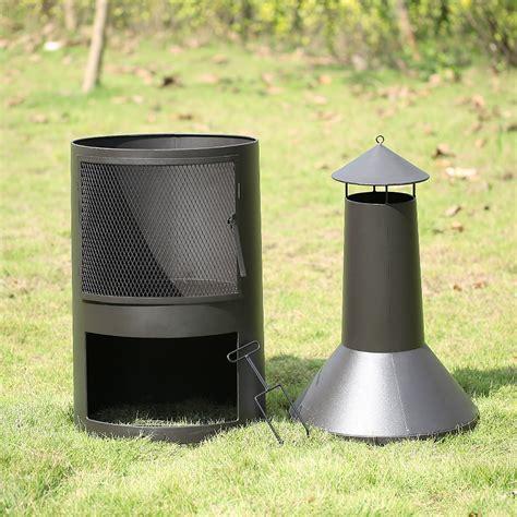 ikayaa chimney metal patio garden outdoor pit