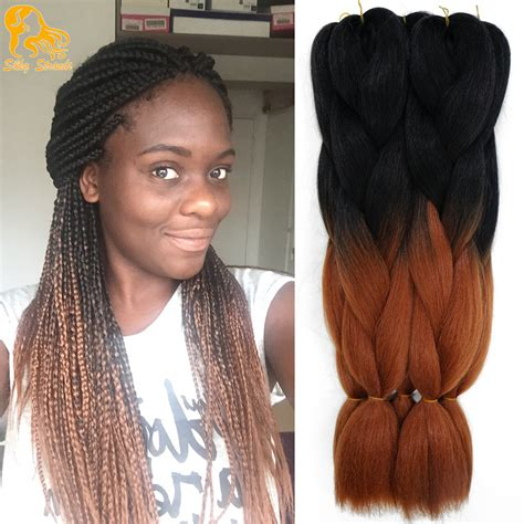 braids for ombre hair aliexpress com buy ombre kanekalon braiding hair colors