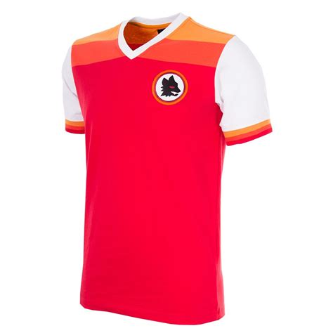 Tshirt As Roma 1 shop as roma 1978 79 sleeve retro football shirt