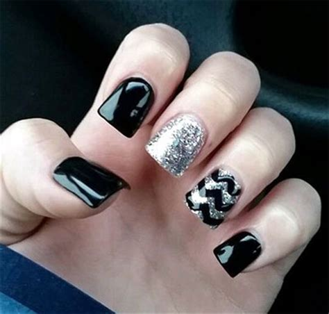 easy nail art black and silver simple nail art designs black and silver www pixshark