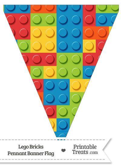 lego bricks pennant banner flag  printabletreatscom
