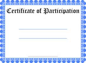 Certificate Of Participation Free Template Pics Photos Free Participation Certificate Template