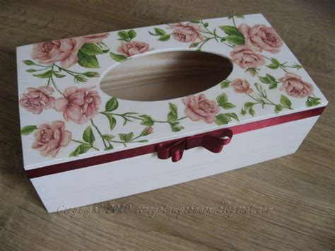 Decoupage Tissue Box - decoupage tissue box decoupage