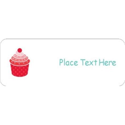 avery 42895 template templates birthday cupcake return address label 60 per