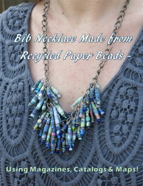 How To Make Necklace With Paper - diy jewelry craft how to make a bib necklace using