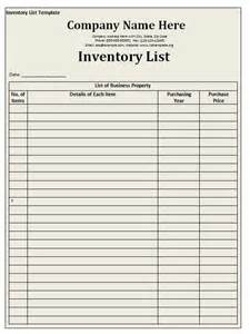 Word Inventory Template by Inventory List Template Free Formats Excel Word