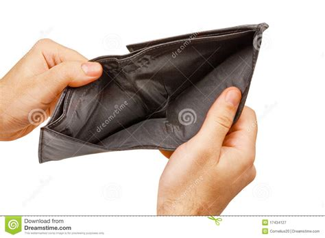 Empty Your Bank Account With Just Your Thumbs by Empty Wallet Royalty Free Stock Photography Image 17434127