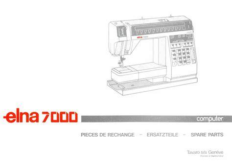 elna sewing machine parts diagram elna 7000 parts book