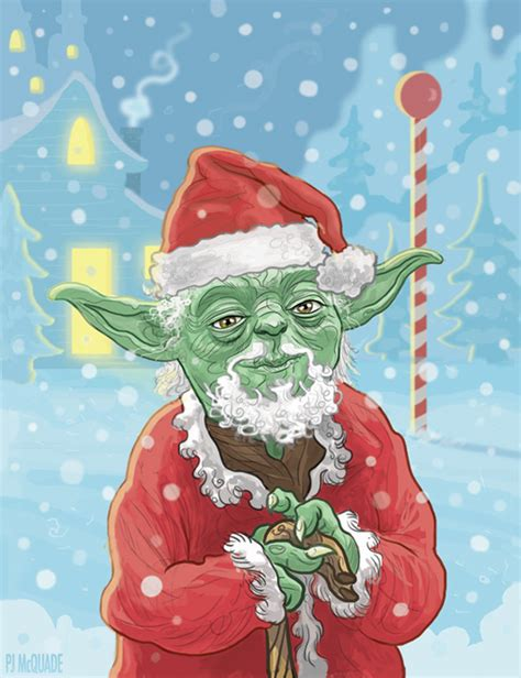 force  strong   star wars christmas cards