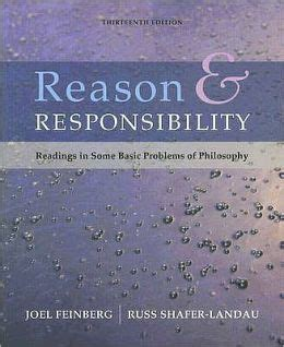 philosophy basic readings 0415337984 reason and responsibility readings in some basic problems of philosophy edition 13 by joel
