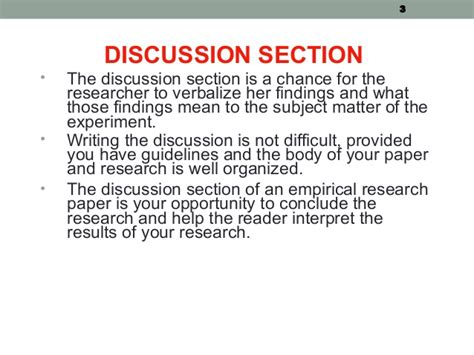 writing a discussion section of a research paper week 9 writing discussion