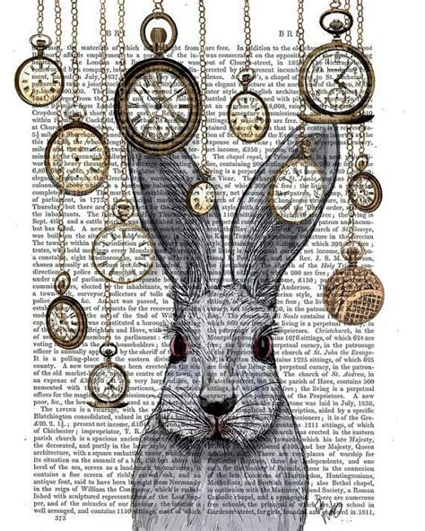 alice in wonderland art book clock inspiration image