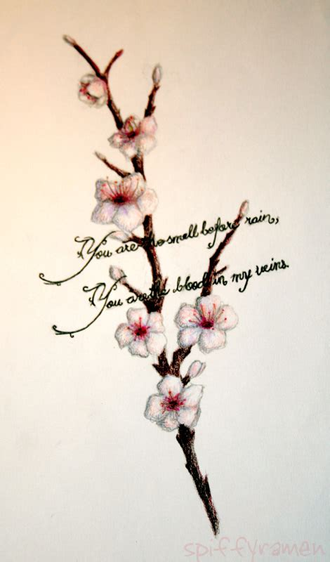 small cherry blossom tree tattoo real photo pictures