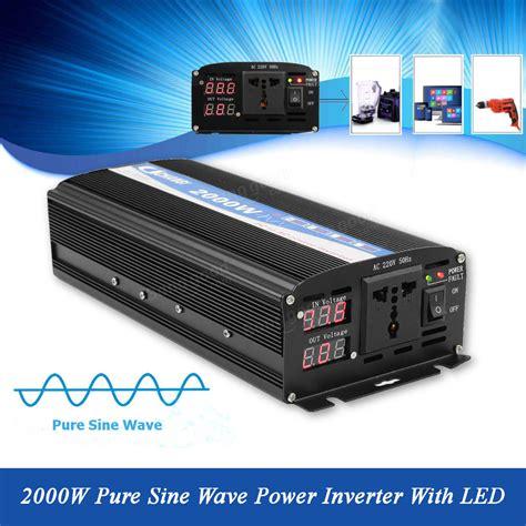 Ac Akari 1 2 Pk 320 Watt 2000w sine wave inverter led power invert 12v dc to