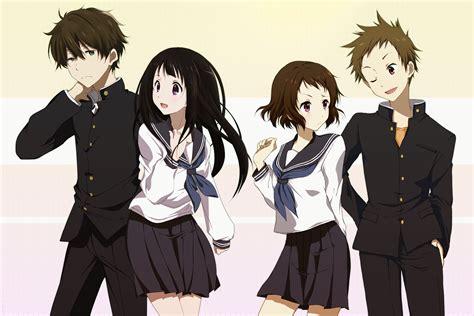 anime hyouka pinterest anime hyouka mayaka ibara eru chitanda hōtarō oreki