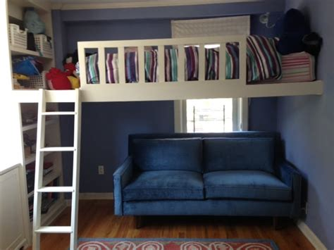 bunk bed with sofa underneath stunning retro under loft bed sofa yelp