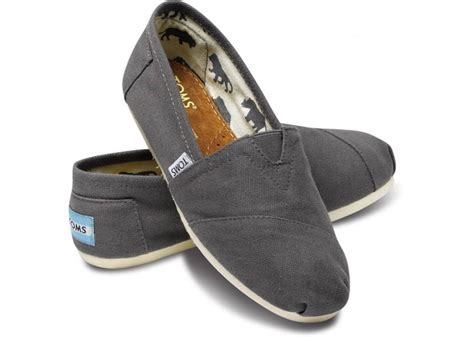Toms Shoes Canvas With Box toms grey ash classic slip on canvas new in box s