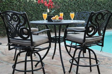 Outdoor Patio Furniture 5 Piece Aluminum Bar Set Ebay Patio Furniture 5 Set