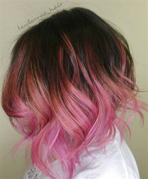 pink highlighted hair over 50 50 balayage hair color ideas to swoon over