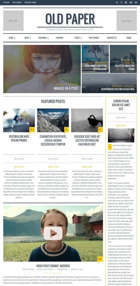wordpress themes old newspaper top 40 wordpress news themes for newspapers magazines