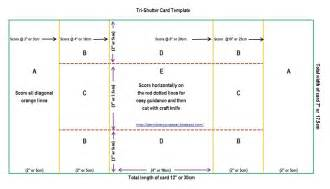Card Template by The Per S Nickety Scrapper Tri Shutter Card Templates And