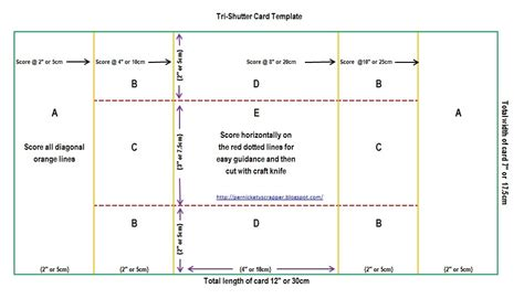 tri fold card template for photographers the per s nickety scrapper tri shutter card templates and