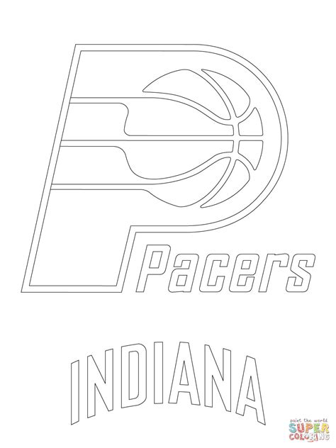 iu basketball coloring pages pacers logo coloring pages