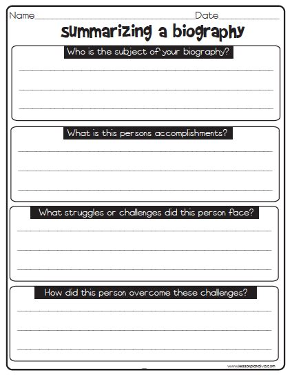 biography writing unit i can write a research paper non fiction text features