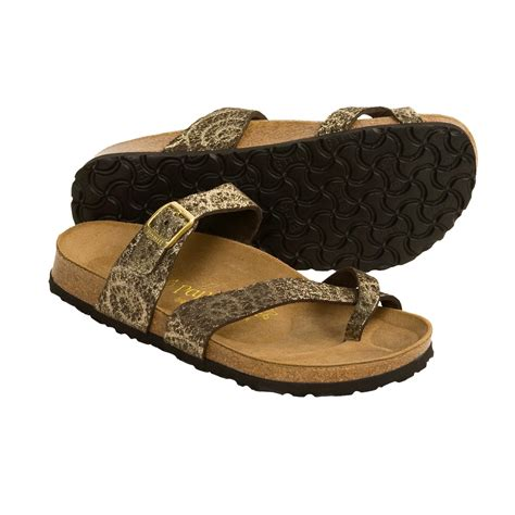 tabora birkenstock sandals papillio by birkenstock tabora gold swirl sandals for