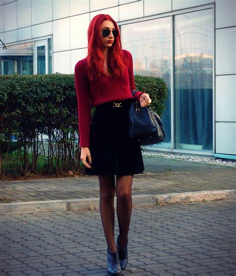 Zara Sweater Velvet khloe lo zara sweater velvet skirt zara booties