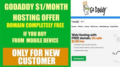 godaddy  month web hosting offer  domain completely